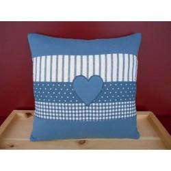 Zirbenkissen mit Herz (blau)
