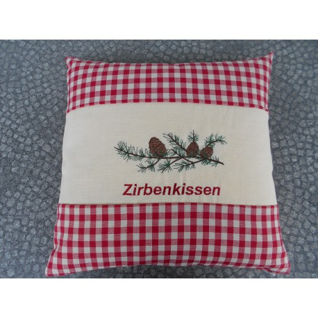 """Zirbenkissen """"Rot/Karo"""""""