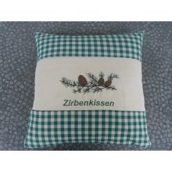 """Zirbenkissen """"Grün/Karo"""""""