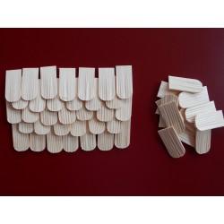Holzschindeln / Dachschindeln rund (Fichte)